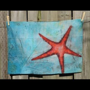 Tea towels , handmade, marine inspired, New